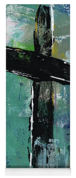 Expressionist Cross 8- Art By Linda Woods Yoga Mat
