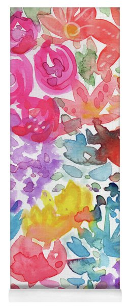Expressionist Watercolor Garden- Art By Linda Woods Yoga Mat