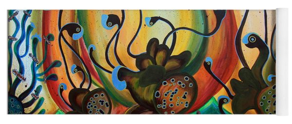 Extraterrestrial Flora Yoga Mat