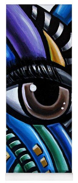 Eye Abstract Art Painting - Intuitive Chromatic Art - Pineal Gland Third Eye Artwork Yoga Mat