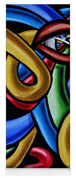 Colorful Illusion Optical Eye Art Painting Chromatic Art - Multicolor Chromatic Energy Flow Art  Yoga Mat