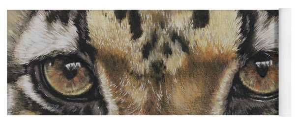 Clouded Leopard Gaze Yoga Mat