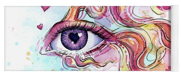 Eye Fish Surreal Betta Yoga Mat