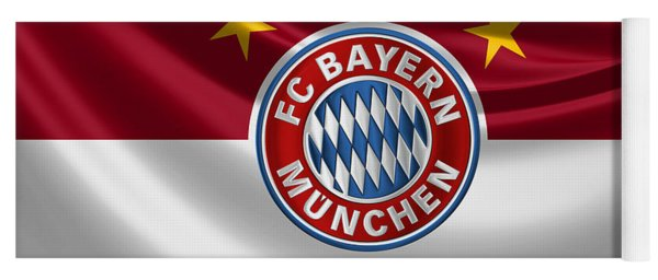 F C Bayern Munich - 3 D Badge Over Flag Yoga Mat