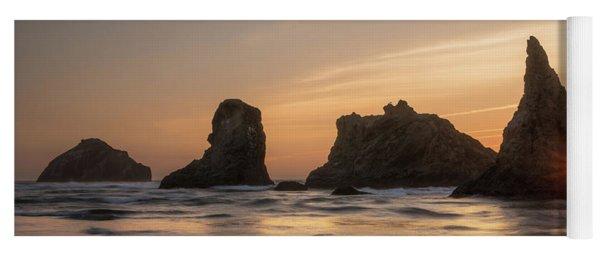 Face Rock Sunset Yoga Mat