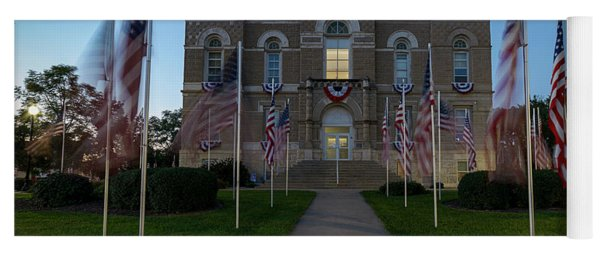 Fairbury Nebraska Avenue Of Flags - September 11 2016 Yoga Mat
