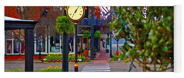 Fairhope Ave With Clock Down Section Street Yoga Mat