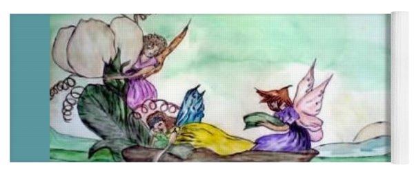 Fairies At Sea Yoga Mat