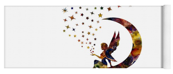 Fairy And Stars Yoga Mat