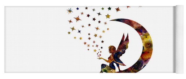 Fairy And Stars Yoga Mat