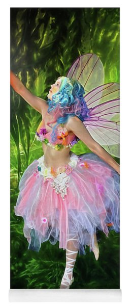 Fairy With Light Yoga Mat
