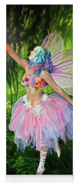 Fairy With Light Yoga Mat