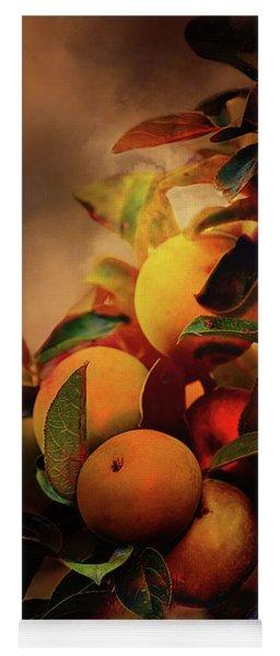 Fall Apples A Living Still Life Yoga Mat