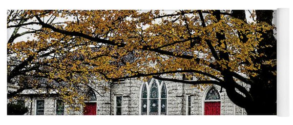 Fall At Church Yoga Mat