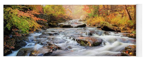 Fall At Gunstock Brook I Yoga Mat