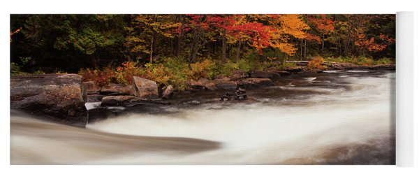 Fall At Oxtongue Rapids Yoga Mat