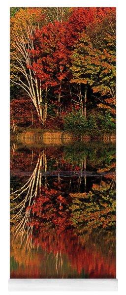 Fall Colored Trees Thornton Lake Upper Peninsula Michigan Yoga Mat