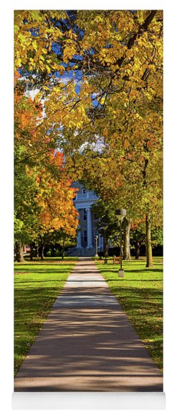 Fall Colors At Lawrence University In Appleton, Wisconsin Yoga Mat