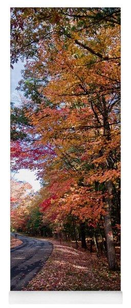 Fall Colors Backroad Yoga Mat