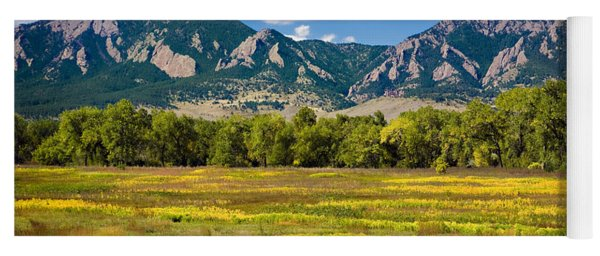 Fall Colors Of Boulder Colorado Yoga Mat