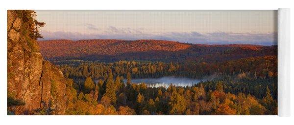 Fall Colors Orberg Mountain North Shore Minnesota Yoga Mat