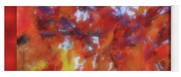 Fall Colors Watercolor Yoga Mat