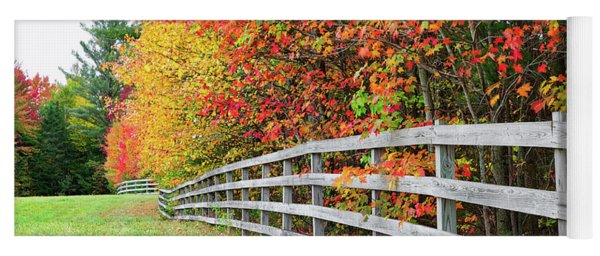 Fall Fence Yoga Mat