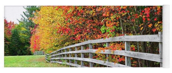 Fall Fence Yoga Mat