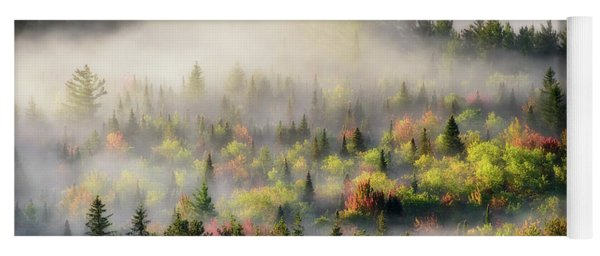 Fall Fog Yoga Mat