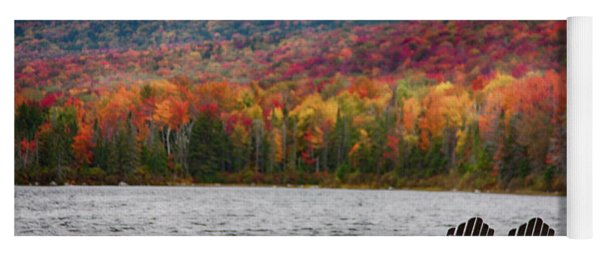 Fall Foliage At Noyes Pond Yoga Mat