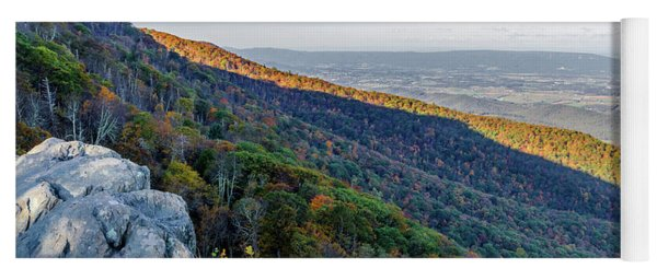 Yoga Mat featuring the photograph Fall Foliage In The Blue Ridge Mountains by Lori Coleman