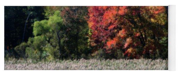 Fall Foliage Marsh Yoga Mat