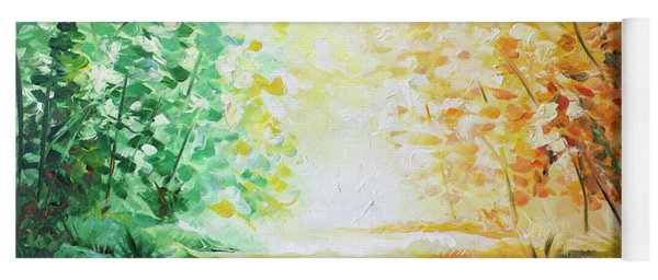 Yoga Mat featuring the painting Fall Glow by William Love