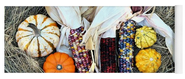 Fall Harvest On Hay Yoga Mat
