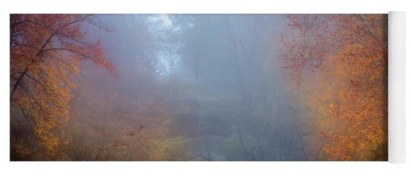 Fall In The Fog Yoga Mat