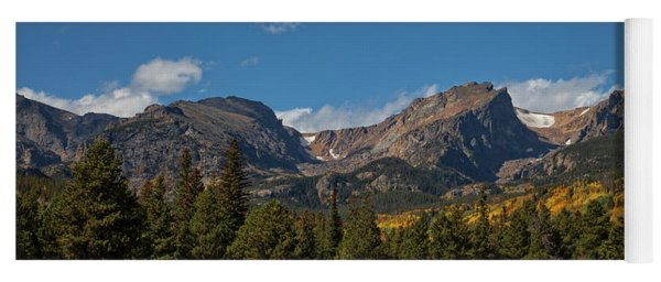 Fall In The Rockies Yoga Mat