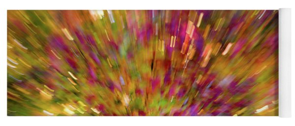 Fall Leaves Abstract 10 Yoga Mat