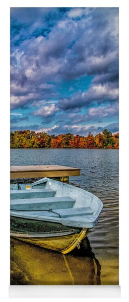 Fall On Alloway Lake Yoga Mat