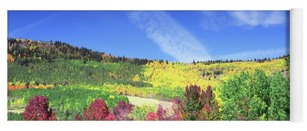 Fall On County Road 12 Yoga Mat