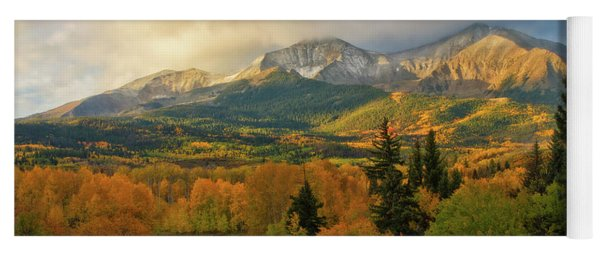 Fall On Mt Sopris  Yoga Mat