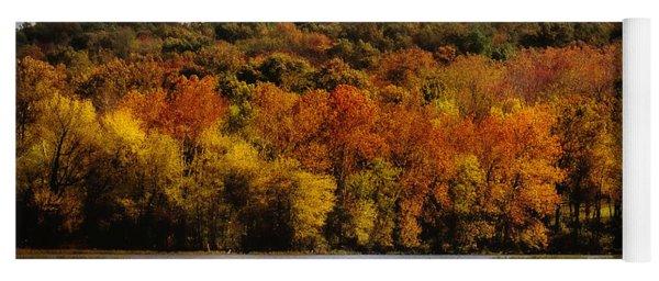 Fall On Springfield Lake Yoga Mat