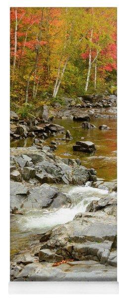 Fall On The Carrabassett River Yoga Mat