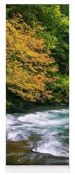 Fall On The Clackamas River, Or Yoga Mat