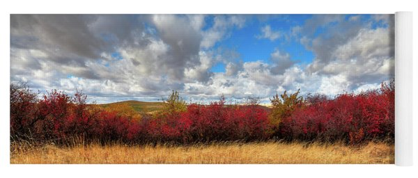 Fall On The Palouse Hills Yoga Mat