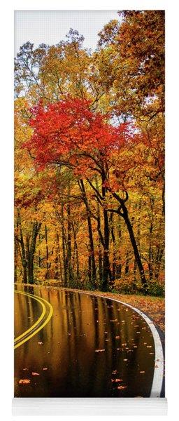 Fall Rain Yoga Mat