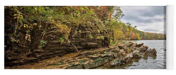 Fall Shoreline Yoga Mat