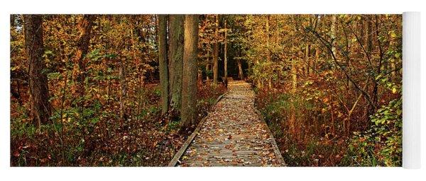 Fall Walk Yoga Mat