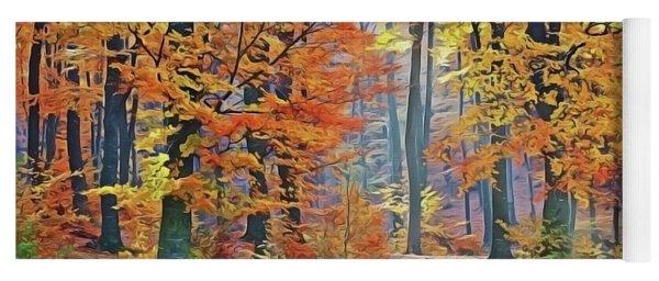 Fall Woods Yoga Mat