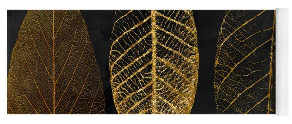 Fallen Gold II Autumn Leaves Yoga Mat