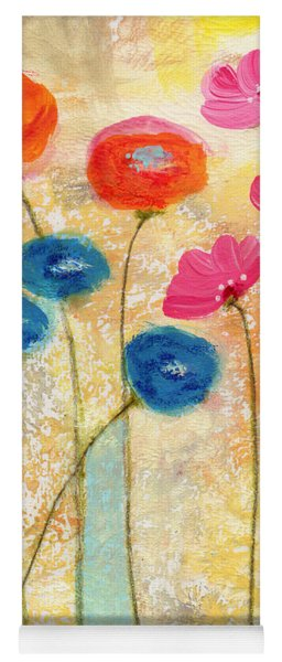 Falling For You- Floral Art By Linda Woods Yoga Mat